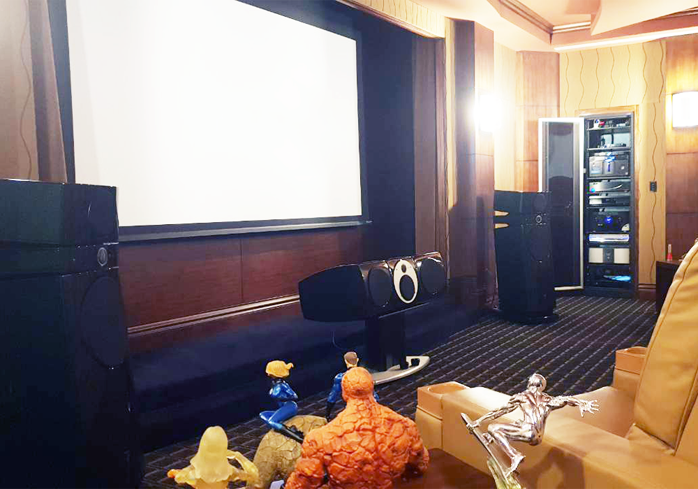 Home Theater System: Focal Utopia Speakers; Dolby Atmos Sound System; Sony True 4K Projector; Crestron Control System