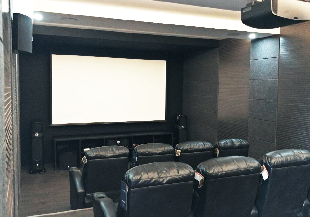 Home Theater: Sony 4K Projector; Focal Sopra Speakers; Dolby Atmos 7.2.4; Crestron Automation